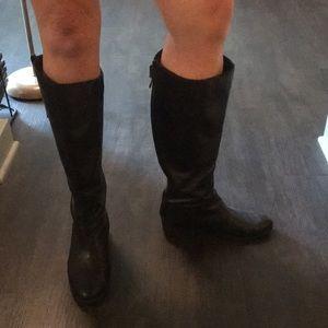 Sam Edelman Black 7 Leather Knee High Boots